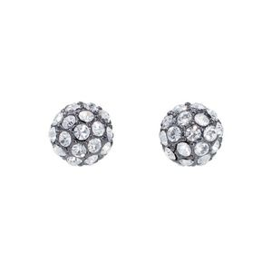 :: Stella & Dot Soirée Silver Pave+Hematite Studs